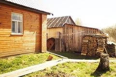 Ландшафт в русской деревне Стоковая Фотография RF