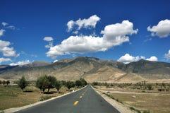 Ландшафт в Тибете Стоковое Изображение RF