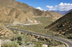 Ландшафт в Тибете Стоковые Изображения RF