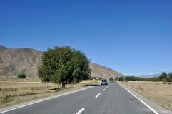 Ландшафт в Тибете Стоковая Фотография RF