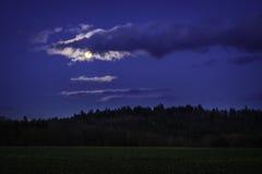 Ландшафт в лунном свете Стоковое фото RF