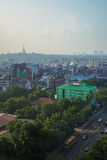 Ландшафт в утре, Мьянма Янгона стоковое фото