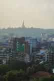 Ландшафт в утре, Мьянма Янгона стоковые фотографии rf