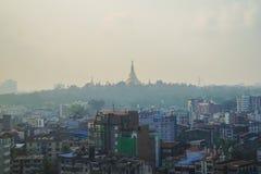 Ландшафт в утре, Мьянма Янгона стоковая фотография rf