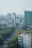 Ландшафт в утре, Мьянма Янгона стоковое фото rf
