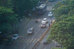 Ландшафт в утре, Мьянма Янгона стоковые фото