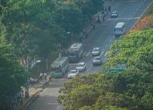 Ландшафт в утре, Мьянма Янгона стоковая фотография