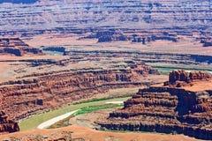 Взгляд от парка штата пункта мертвой лошади Стоковые Фотографии RF