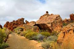 Ландшафт в Cederberg, Южная Африка пещер Stadsaal стоковые изображения rf