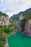 Ландшафт в Congost de Mont-rebei, Испании Стоковые Изображения RF