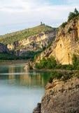 Ландшафт в Congost de Mont-rebei, Испании Стоковое Фото