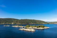 Ландшафт в Oslofjord Стоковое фото RF