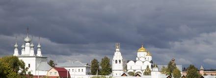 Ландшафт в suzdal, Российская Федерация Стоковое фото RF
