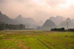 Ландшафт в Yangshuo Guilin, Китае стоковое изображение rf