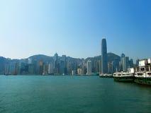 Ландшафт Гонконга стоковые фотографии rf