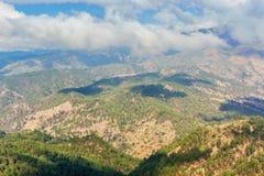 Ландшафт гористой местности в сельской области Гватемалы Стоковое фото RF