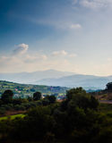 Ландшафт горного села Стоковые Изображения RF