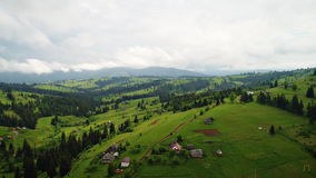Ландшафт горного села видеоматериал