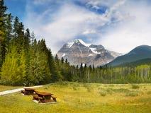 Ландшафт горной цепи, Канада стоковое изображение