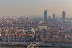 Ландшафт города в городе Лиона Стоковая Фотография RF