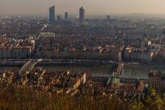 Ландшафт города в городе Лиона Стоковое Изображение