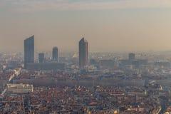 Ландшафт города в городе Лиона Стоковые Фото