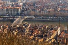 Ландшафт города в городе Лиона Стоковые Изображения