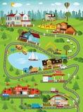 Ландшафт города (летний день) иллюстрация штока