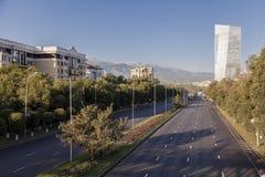 Ландшафт города, проезжая часть Стоковые Изображения RF