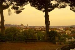 Ландшафт города Флоренса Стоковое фото RF