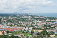 Ландшафт города Hua Hin, Таиланд Стоковая Фотография