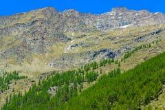 Ландшафт горы большой возвышенности Стоковая Фотография
