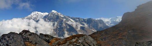 Ландшафт горы в Гималаях Пик Annapurna южный, Непал Стоковые Изображения
