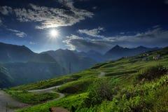 Ландшафт горы в лете Стоковые Изображения RF