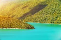 Ландшафт горы в зеленом цвете wally Стоковая Фотография