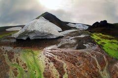 Ландшафт горы в Исландии Стоковые Изображения