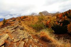 Ландшафт горы в осени Стоковое Изображение
