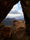 Ландшафт горы в острове Gran Canaria, Канарских островах Стоковые Изображения