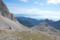 Ландшафт горы в Словении стоковое изображение rf