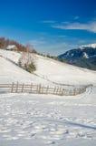 Ландшафт горы зимы Стоковые Изображения