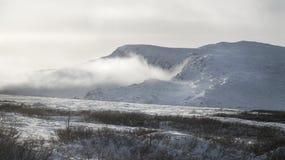 Ландшафт горы зимы Стоковое Изображение RF