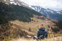 Ландшафт горы, Карпаты Стоковое Изображение