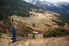 Ландшафт горы, Карпаты Стоковые Фотографии RF