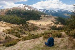 Ландшафт горы, Карпаты Стоковые Изображения