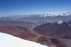 Ландшафт горы. Крыша мира Стоковые Изображения