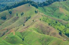 Ландшафт горы на провинции Nan в Таиланде Стоковые Фотографии RF