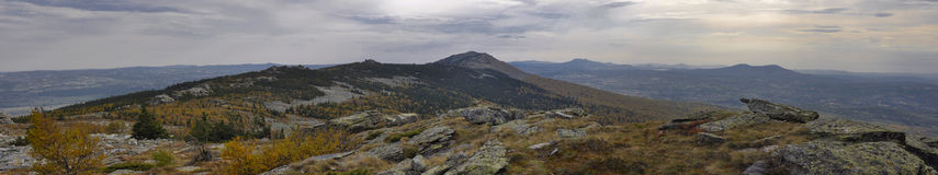Ландшафт горы осени Стоковые Изображения