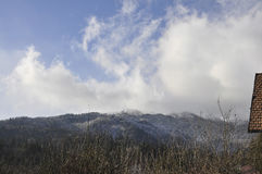 Ландшафт горы от курорта Sinaia в Румынии Стоковое Изображение RF