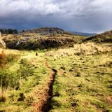 Ландшафт горы, Перу стоковое фото rf