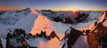 Ландшафт горы Польши на зиме стоковое фото